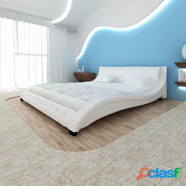 VidaXL - Cama con colchón viscoelástico cuero sintético