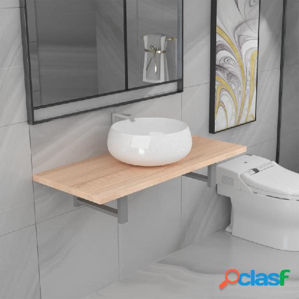 VidaXL - Conjunto de muebles de baño 2 piezas cerámica
