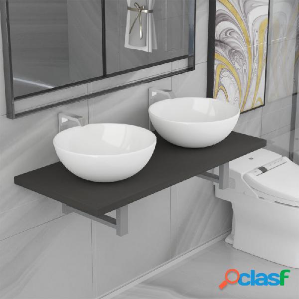 VidaXL - Conjunto de muebles de baño de tres piezas