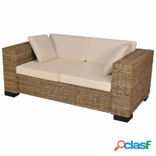 VidaXL - Conjunto de sofá de dos plazas 7 piezas ratán
