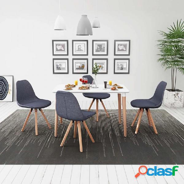 VidaXL - Conjunto deesa de comedor y sillas 5 uds blanco y