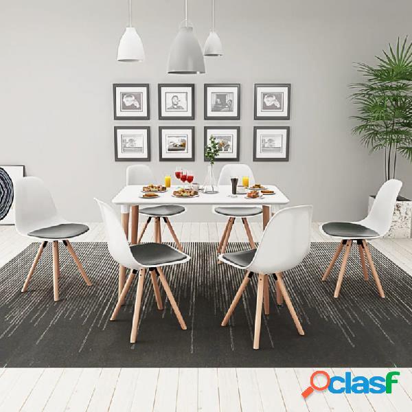 VidaXL - Conjunto deesa de comedor y sillas 7 piezas blanco