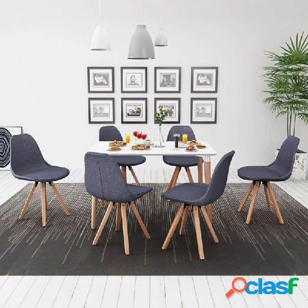 VidaXL - Conjunto deesa de comedor y sillas 7 uds blanco y
