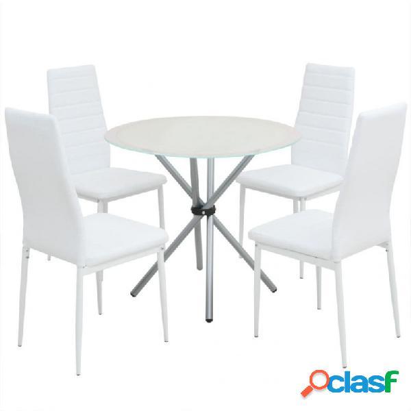 VidaXL - Conjunto demesas y sillas de comedor de cinco