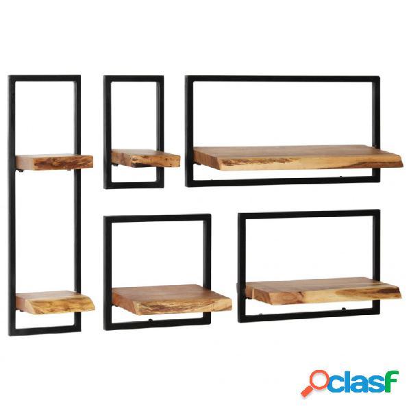 VidaXL - Conjunto estantes pared 5 piezasaderaaciza acacia y