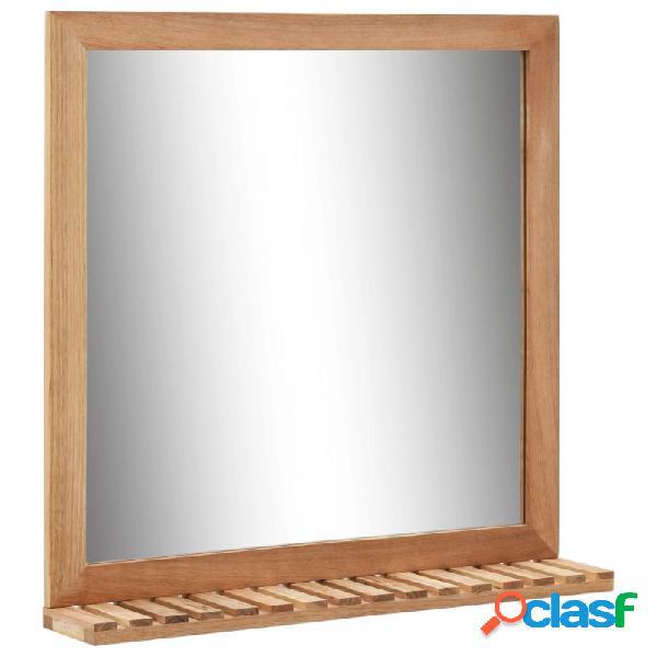 VidaXL - Espejo de cuarto de baño 60x12x62cmmaderamaciza de