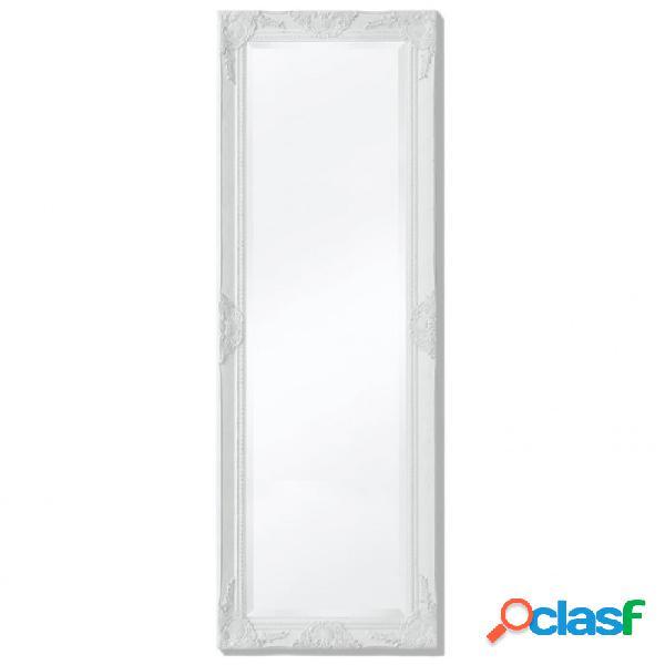 VidaXL - Espejo de pared estilo barroco 140x50cm blanco Vida