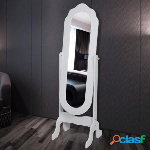 VidaXL - Espejo de pie ajustable blanco Vida XL