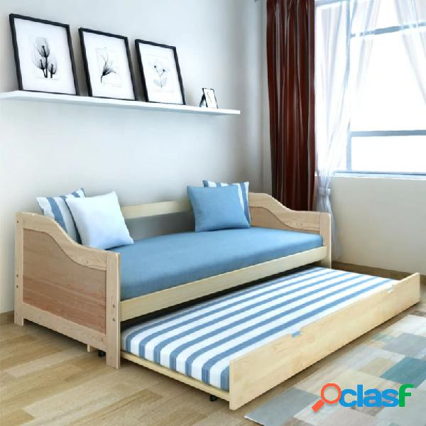 VidaXL - Estructura de sofá camamadera de pino 90x200cm