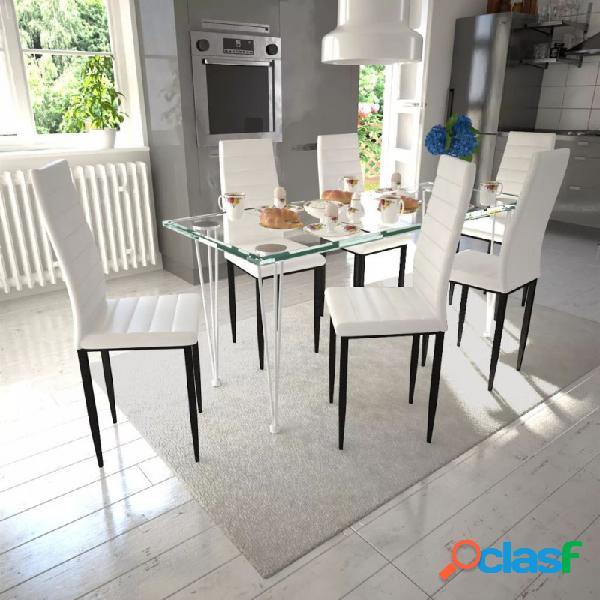 VidaXL - Juego de comedor 6 sillas delgadas con 1mesa de