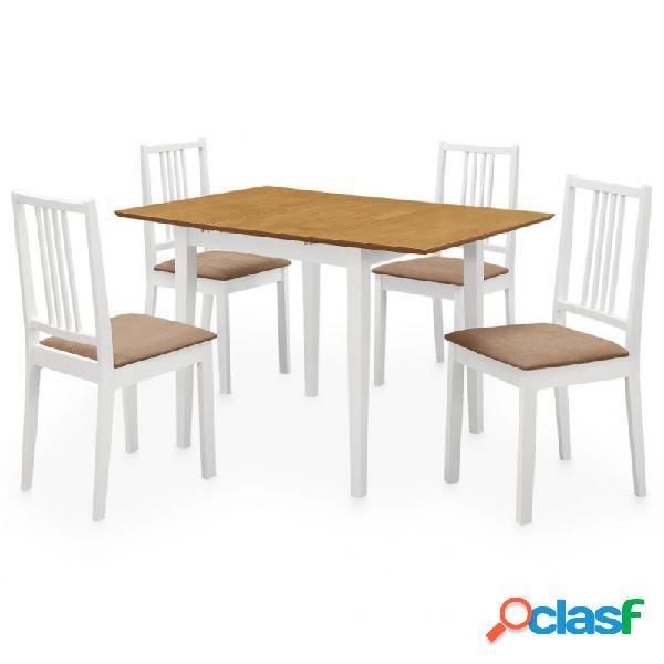 VidaXL - Juego de muebles de comedor 5 piezas MDF blanco
