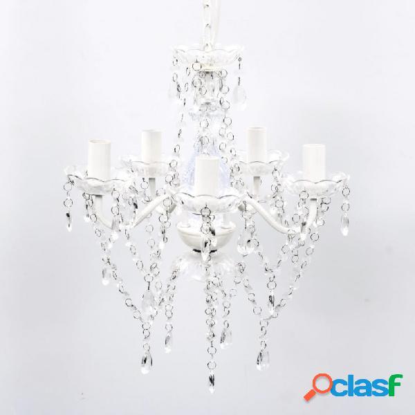 VidaXL - Lámpara de araña de cristal 5 bombillas