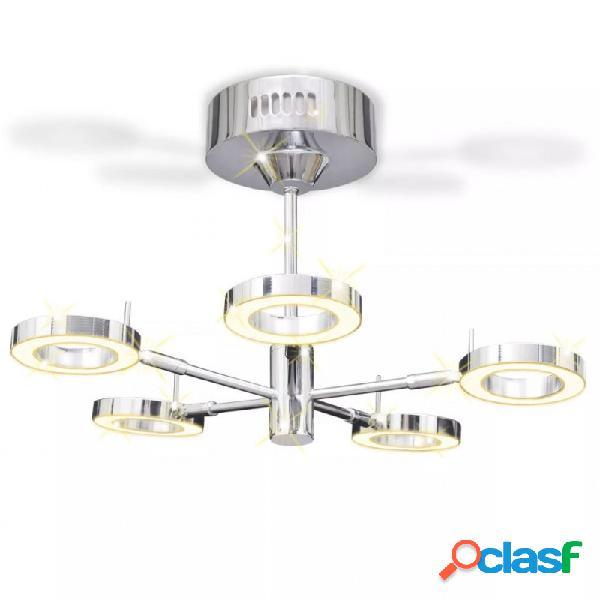 VidaXL - Lámpara de techo colgante con 5 luces LED redondas