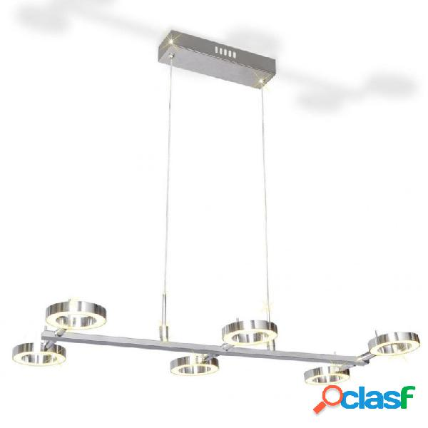 VidaXL - Lámpara de techo colgante con 6 luces LED redondas