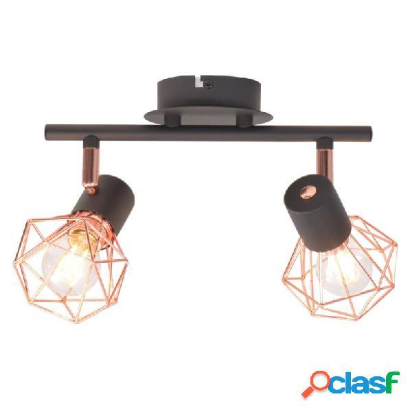 VidaXL - Lámpara de techo con 2 bombillas de filamento LED