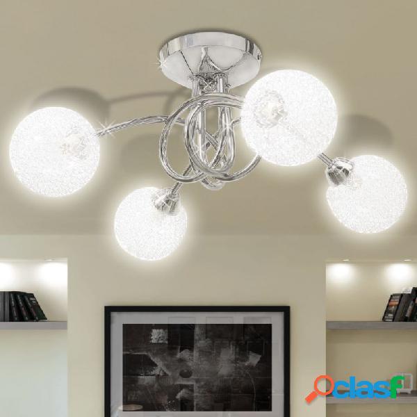 VidaXL - Lámpara de techo con pantalla de malla de alambre