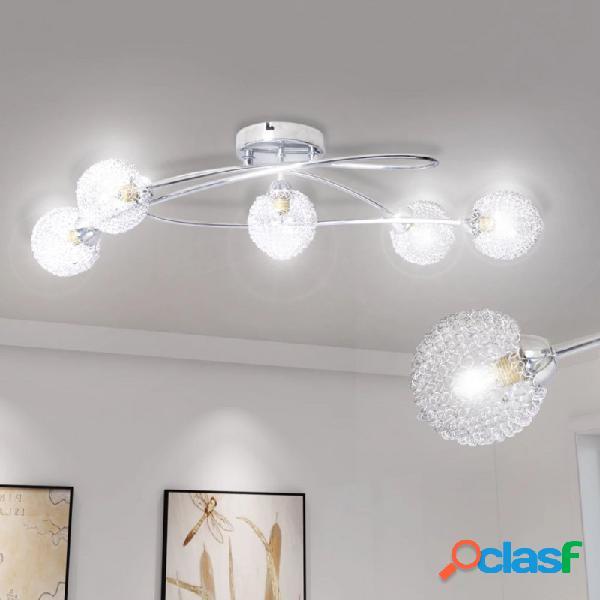 VidaXL - Lámpara de techo pantalla demalla de alambre 5