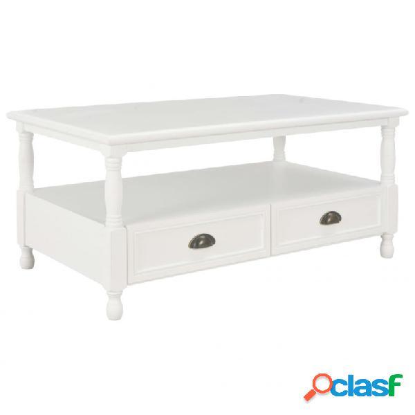 VidaXL - Mesa de centro de madera blanco 100x55x45cm Vida XL