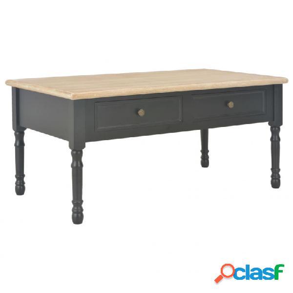 VidaXL - Mesa de centro de madera negro 100x55x45cm Vida XL