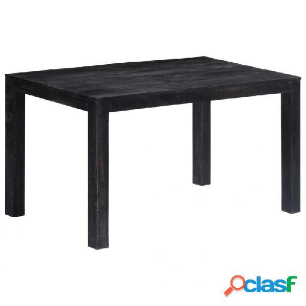 VidaXL - Mesa de comedor demaderamaciza demango negra