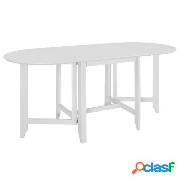 VidaXL - Mesa de comedor extensible blanca