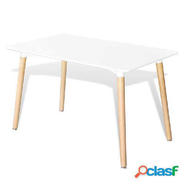 VidaXL - Mesa de salón comedor rectangular demDF blanca