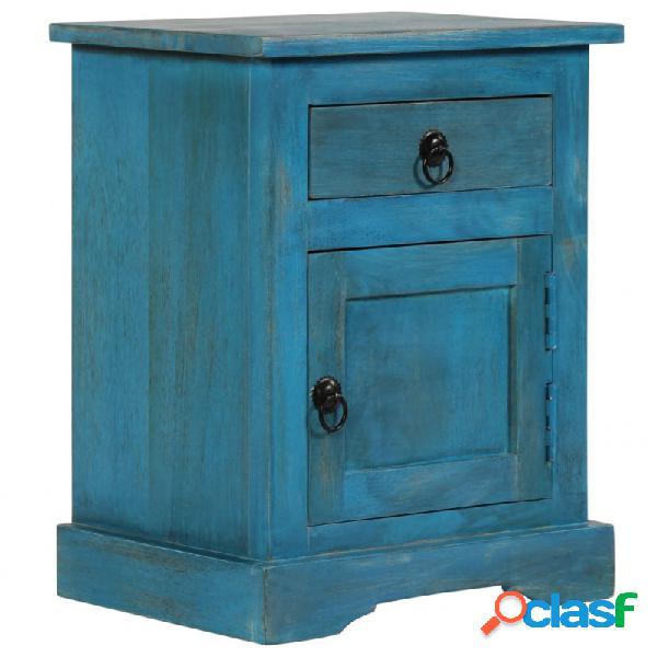 VidaXL - Mesita de noche deaderaaciza deango azul 40x30x50cm
