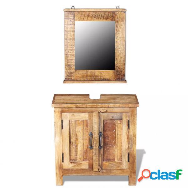 VidaXL - Mueble de lavabo con espejo adera deangoaciza Vida