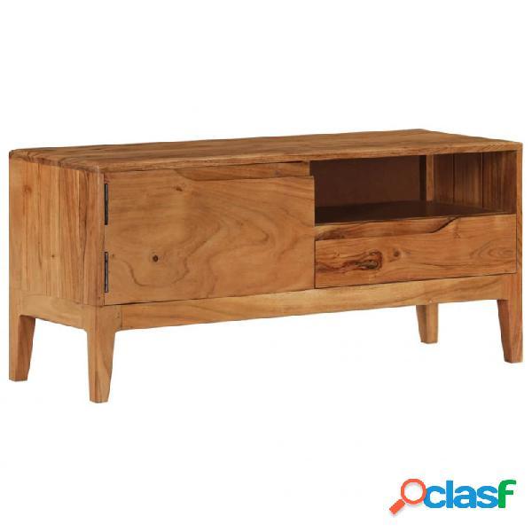 VidaXL - Mueble para TV demadera de acaciamaciza 88x30x40cm