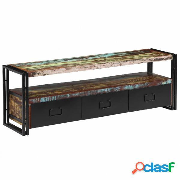 VidaXL - Mueble para TV demaderamaciza reciclada 120x30x40cm