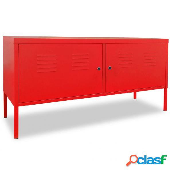 VidaXL - Mueble para la TV 118x40x60cm rojo Vida XL