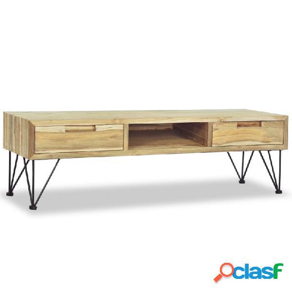 VidaXL - Mueble para la TV 120x35x35cm deaderaaciza de teca