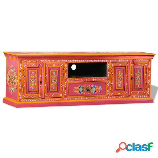 VidaXL - Mueble para la TV demaderamaciza demango rosa