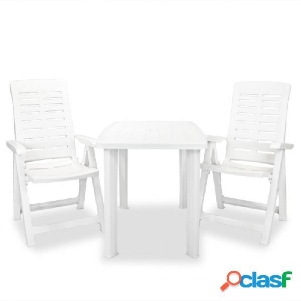 VidaXL - Set de mesa y sillas bistró de jardín 3 piezas