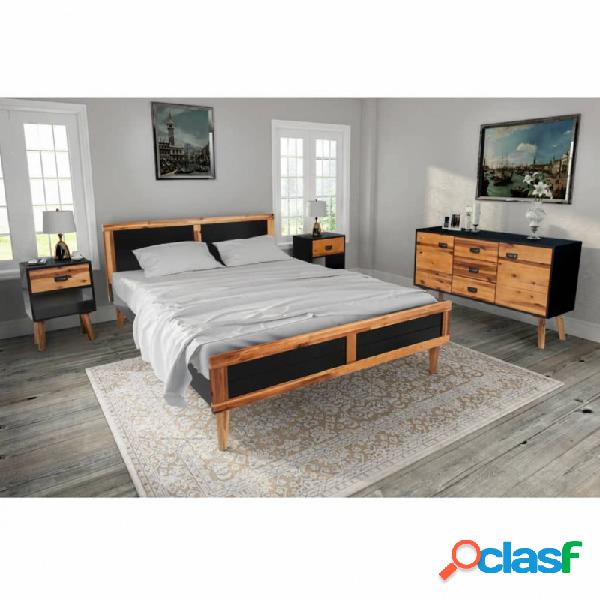 VidaXL - Set demuebles de dormitorio 4 piezas acaciamaciza