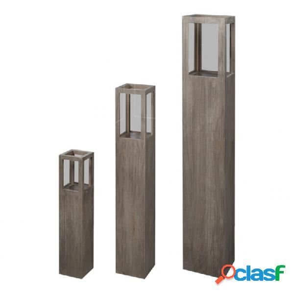 VidaXL - Set soporte de vela del jardín 3 piezas