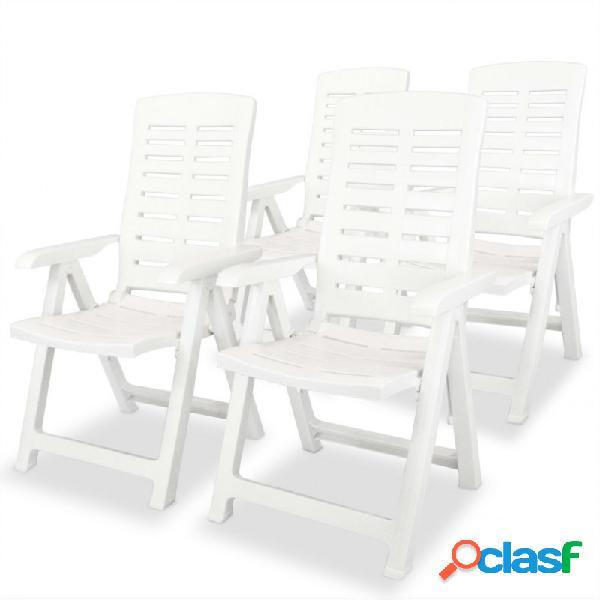 VidaXL - Silla de jardín reclinables 4 unidades plástico