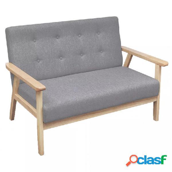 VidaXL - Sofá de 2 plazas de tela gris claro Vida XL