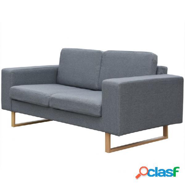 VidaXL - Sofá de 2 plazas tela gris claro Vida XL