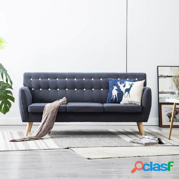 VidaXL - Sofá de 3 plazas tapizado de tela 172x70x82cm gris