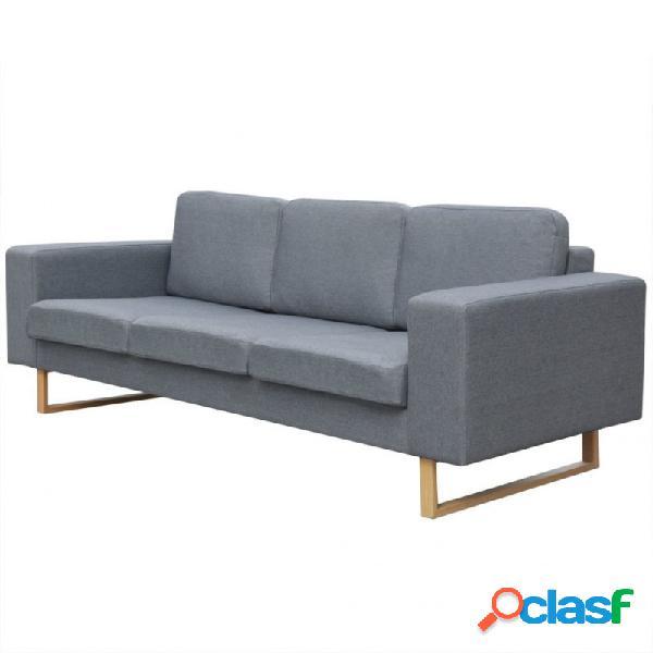 VidaXL - Sofá de 3 plazas tela gris claro Vida XL