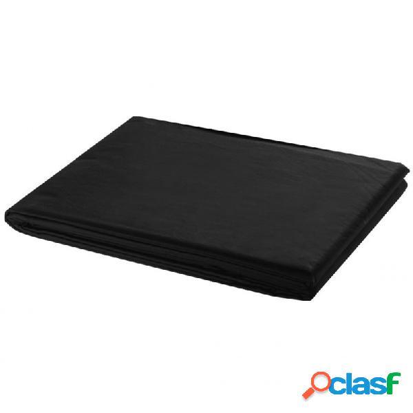 VidaXL - Telón de fondo para fotografía algodón negro