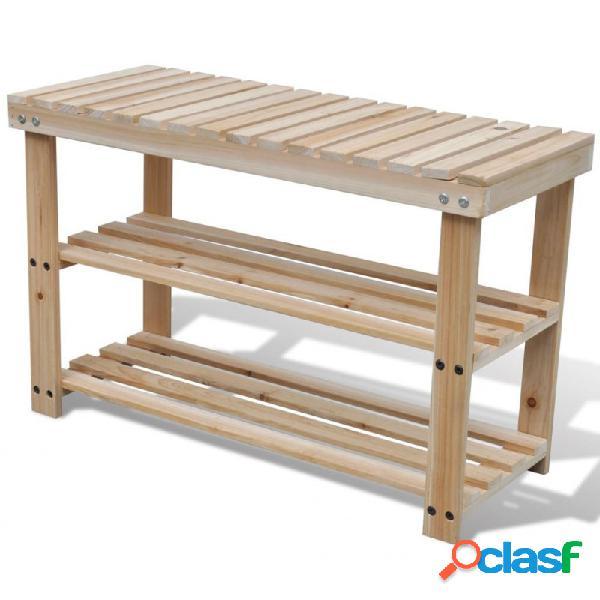 VidaXL - Zapatero de madera 2 en 1 con banco superior Vida