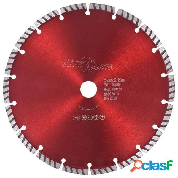 VidaXL - vidaXL Disco de corte de diamante con turbo acero