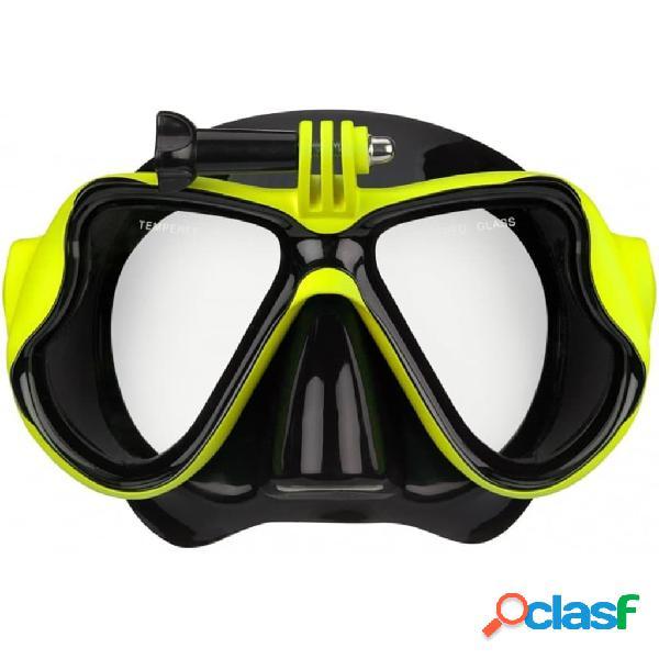 Waimea Máscara de buceo de silicona soporte para cámara