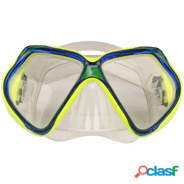 Waimea máscara de buceo de silicona amarillo/azul cobalto