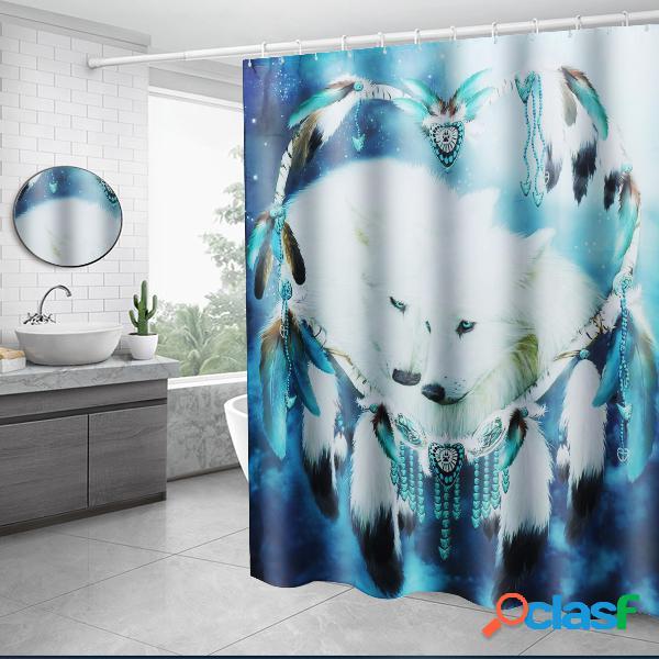 White Wolf Dream Catcher Cuarto de baño Tapa de la cotina