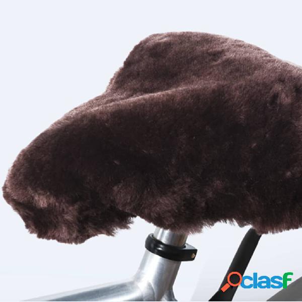 Willex Funda para sillín de bicicleta de piel de oveja