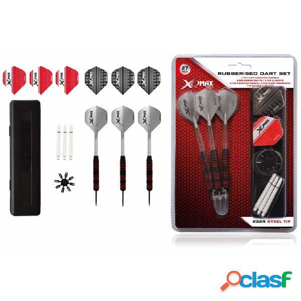 XQmax Darts Dardos engomados 27 piezas 23g punta acero