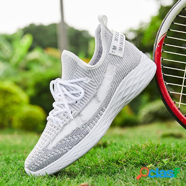 Zapatillas para caminar de gran tamaño con cordones de